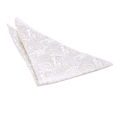TiesDirect.co.uk - Paisley Handkerchief Colour ivory