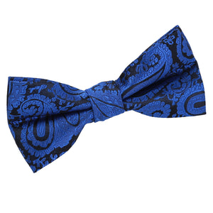 TiesDirect.co.uk - Paisley Pre-Tied Bow Tie Colour royal-blue