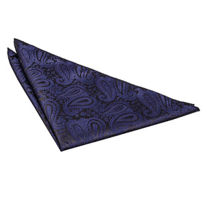 TiesDirect.co.uk - Paisley Handkerchief Colour navy-blue