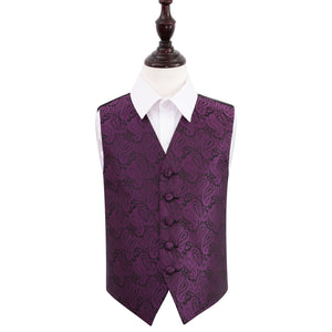 TiesDirect.co.uk - Paisley Waistcoat - Boys Colour purple