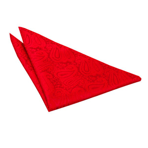 TiesDirect.co.uk - Paisley Handkerchief Colour red
