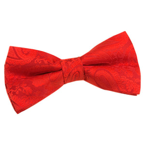 TiesDirect.co.uk - Paisley Pre-Tied Bow Tie Colour red