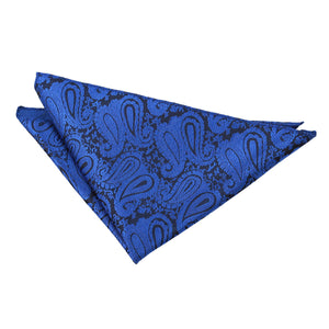 TiesDirect.co.uk - Paisley Handkerchief Colour royal-blue
