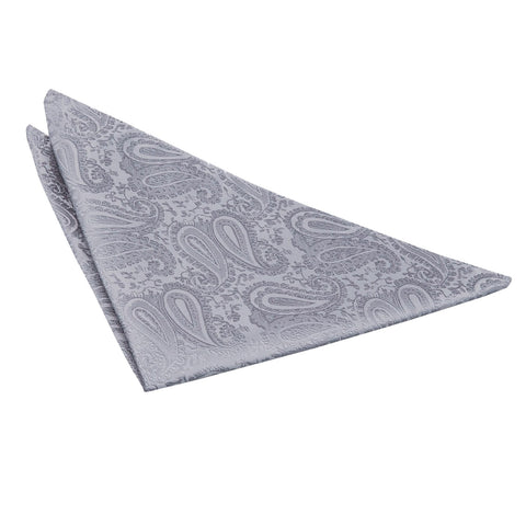 TiesDirect.co.uk - Paisley Handkerchief Colour silver
