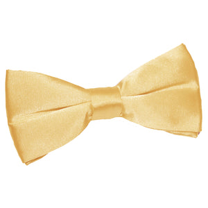 TiesDirect.co.uk - Plain Satin Pre-Tied Bow Tie Colour pale-yellow