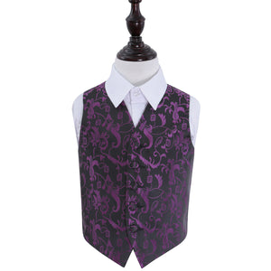 TiesDirect.co.uk - Passion Waistcoat - Boys Colour black-purple