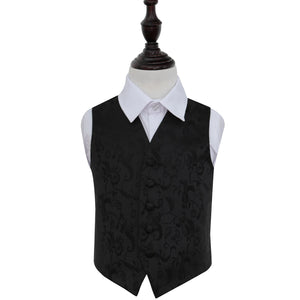 TiesDirect.co.uk - Passion Waistcoat - Boys Colour black