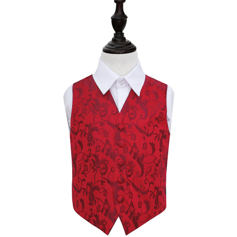 TiesDirect.co.uk - Passion Waistcoat - Boys Colour burgundy