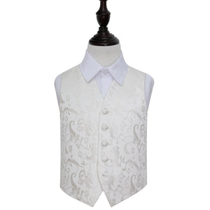 TiesDirect.co.uk - Passion Waistcoat - Boys Colour ivory