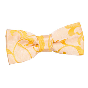TiesDirect.co.uk - Passion Pre-Tied Bow Tie - Boys Colour gold