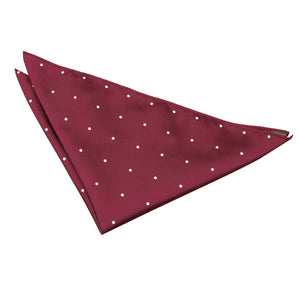 TiesDirect.co.uk - Pin Dot Handkerchief Colour burgundy
