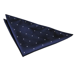 TiesDirect.co.uk - Pin Dot Handkerchief Colour navy-blue