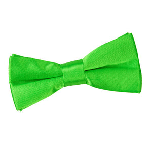TiesDirect.co.uk - Plain Satin Pre-Tied Bow Tie - Boys Colour apple-green