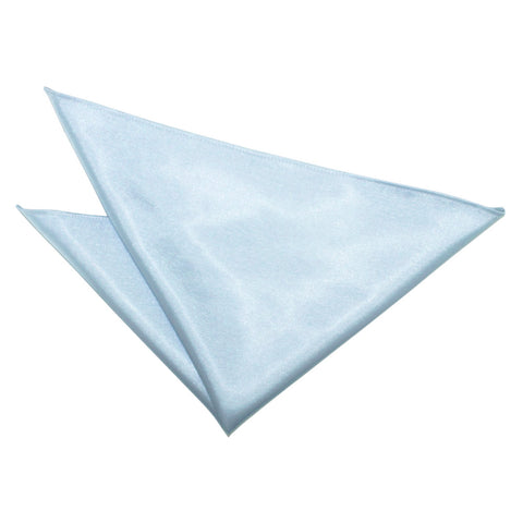 TiesDirect.co.uk - Plain Satin Handkerchief Colour baby-blue