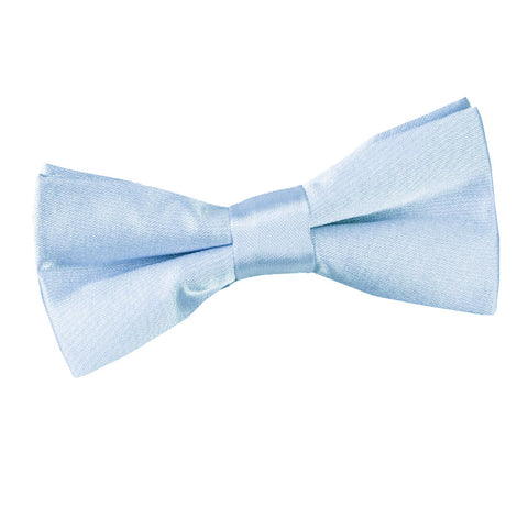 TiesDirect.co.uk - Plain Satin Pre-Tied Bow Tie - Boys Colour baby-blue