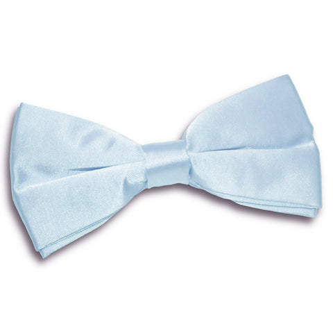 TiesDirect.co.uk - Plain Satin Pre-Tied Bow Tie Colour baby-blue