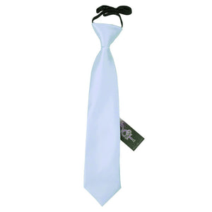 TiesDirect.co.uk - Plain Satin Elasticated Tie - Boys Colour baby-blue