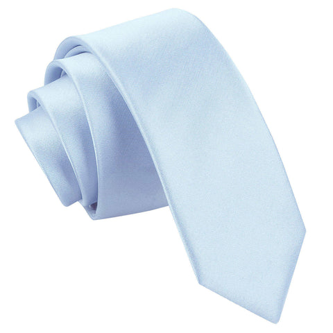 TiesDirect.co.uk - Plain Satin Skinny Tie Colour baby-blue