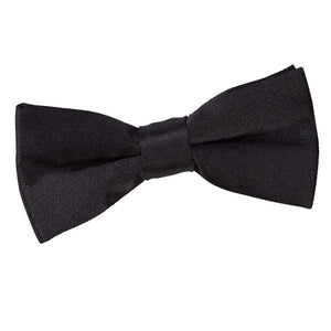 TiesDirect.co.uk - Plain Satin Pre-Tied Bow Tie - Boys Colour black