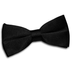 TiesDirect.co.uk - Plain Satin Pre-Tied Bow Tie Colour black