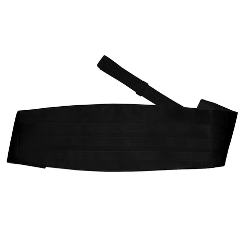 TiesDirect.co.uk - Plain Satin Cummerbund Colour black