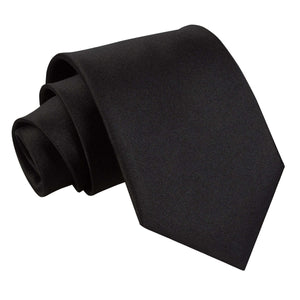 TiesDirect.co.uk - Plain Satin Extra Long Tie Colour black