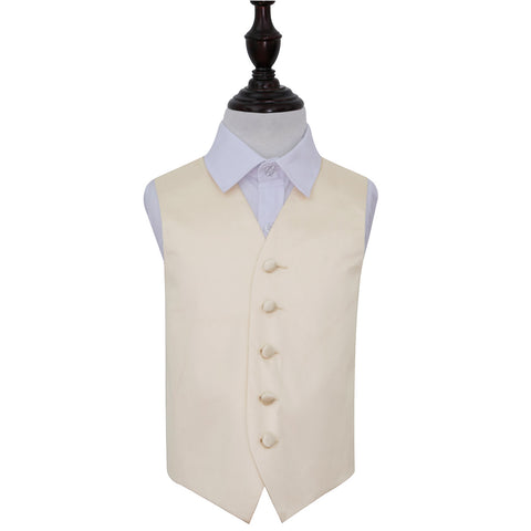 TiesDirect.co.uk - Plain Satin Waistcoat - Boys Colour champagne