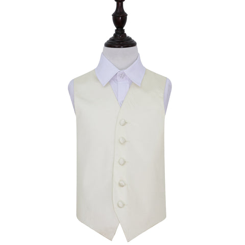 TiesDirect.co.uk - Plain Satin Waistcoat - Boys Colour ivory