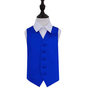 TiesDirect.co.uk - Plain Satin Waistcoat - Boys Colour royal-blue