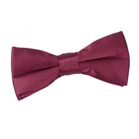 TiesDirect.co.uk - Plain Satin Pre-Tied Bow Tie - Boys Colour burgundy