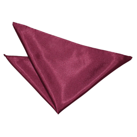 TiesDirect.co.uk - Plain Satin Handkerchief Colour burgundy