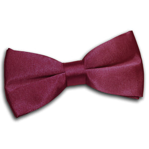 TiesDirect.co.uk - Plain Satin Pre-Tied Bow Tie Colour burgundy