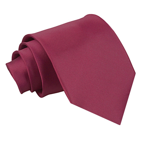 TiesDirect.co.uk - Plain Satin Extra Long Tie Colour burgundy