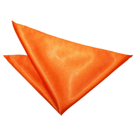 TiesDirect.co.uk - Plain Satin Handkerchief Colour burnt-orange