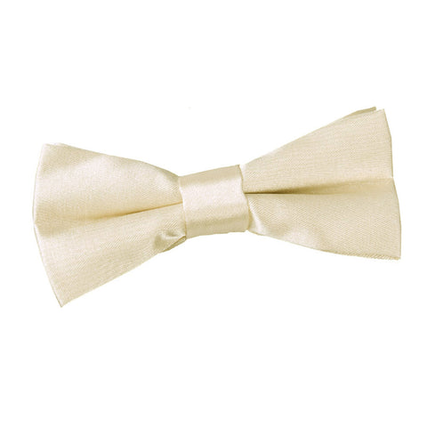 TiesDirect.co.uk - Plain Satin Pre-Tied Bow Tie - Boys Colour champagne