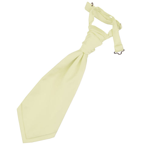 TiesDirect.co.uk - Plain Satin Pre-Tied Ruche Cravat - Boys Colour champagne