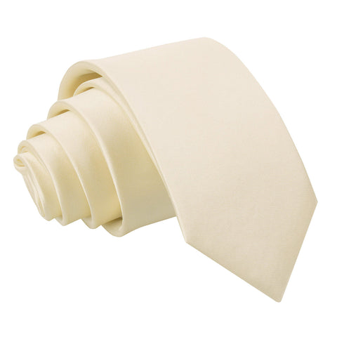 TiesDirect.co.uk - Plain Satin Regular Tie - Boys Colour champagne