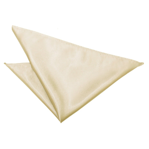 TiesDirect.co.uk - Plain Satin Handkerchief Colour champagne
