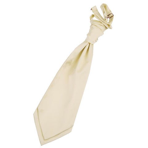 TiesDirect.co.uk - Plain Satin Pre-Tied Ruche Cravat Colour champagne