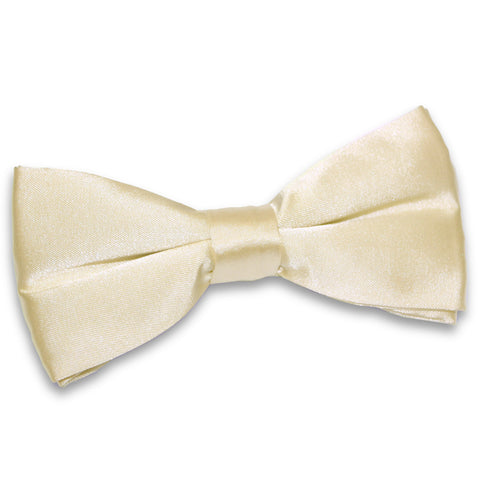 TiesDirect.co.uk - Plain Satin Pre-Tied Bow Tie Colour champagne