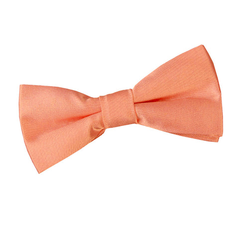 TiesDirect.co.uk - Plain Satin Pre-Tied Bow Tie - Boys Colour coral