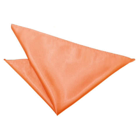 TiesDirect.co.uk - Plain Satin Handkerchief Colour coral