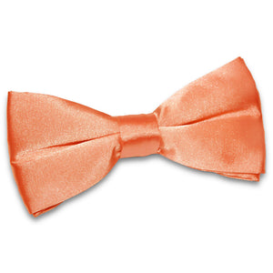 TiesDirect.co.uk - Plain Satin Pre-Tied Bow Tie Colour coral