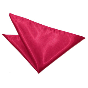 TiesDirect.co.uk - Plain Satin Handkerchief Colour crimson-red