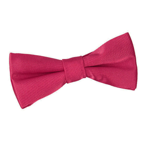 TiesDirect.co.uk - Plain Satin Pre-Tied Bow Tie - Boys Colour crimson-red