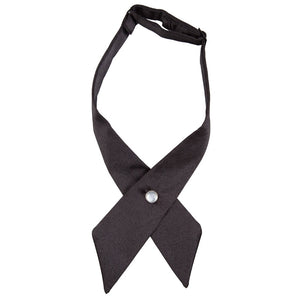 Plain Black Crossover Bow Tie - Unisex -  - | Licensed Sports Merchandise from TiesDirect.co.uk