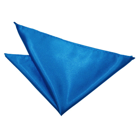 TiesDirect.co.uk - Plain Satin Handkerchief Colour electric-blue