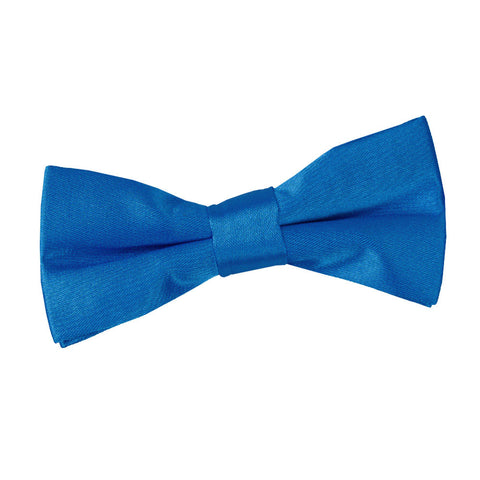 TiesDirect.co.uk - Plain Satin Pre-Tied Bow Tie - Boys Colour electric-blue