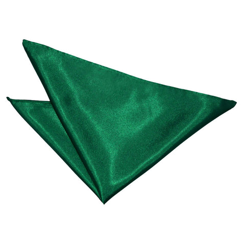 TiesDirect.co.uk - Plain Satin Handkerchief Colour emerald-green