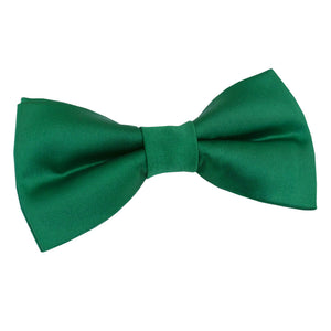 TiesDirect.co.uk - Plain Satin Pre-Tied Bow Tie Colour emerald-green